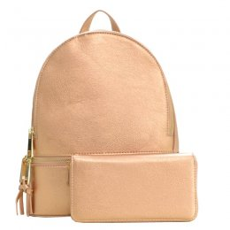 2 in 1 Fashion Backpack Rose Gold