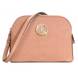Leather Shoulder Strap Handbag Rose Pink