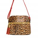 Leopard Crossbody Bag Red/Brown