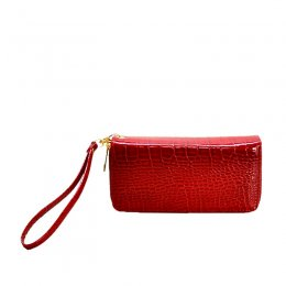 Croc Fashion Wallet Lavender Red