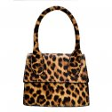 Fashion simple Leatherette Mini Bag TAN LEO