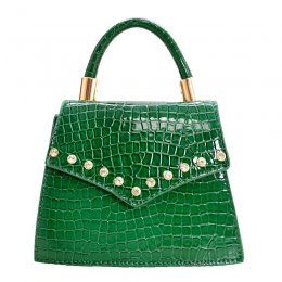 Fashion Leatherette Mini Bag Green