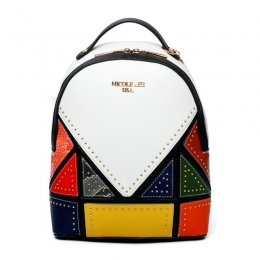 Nicole Lee Colorblock Patchwork Backpack