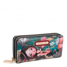 nicole Double Zip Around Wallet Emily travels Europe