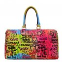 Trendy Graffiti Print Duffle Bag A