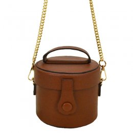 Fashion Cylinder Messenger Hand Bag Coffee