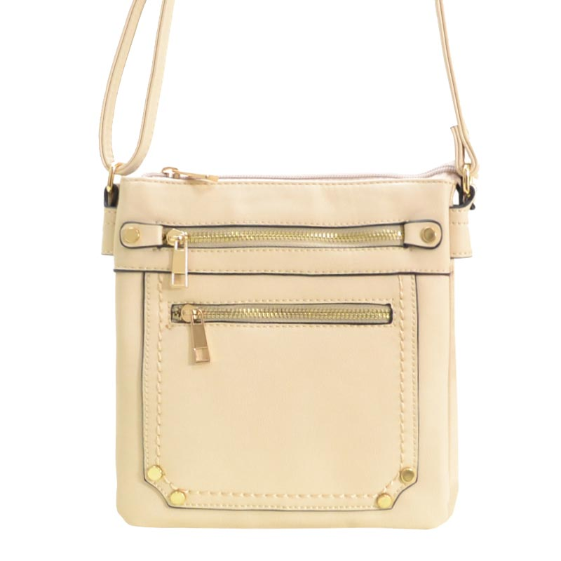 Simple Massenger Bag Beige
