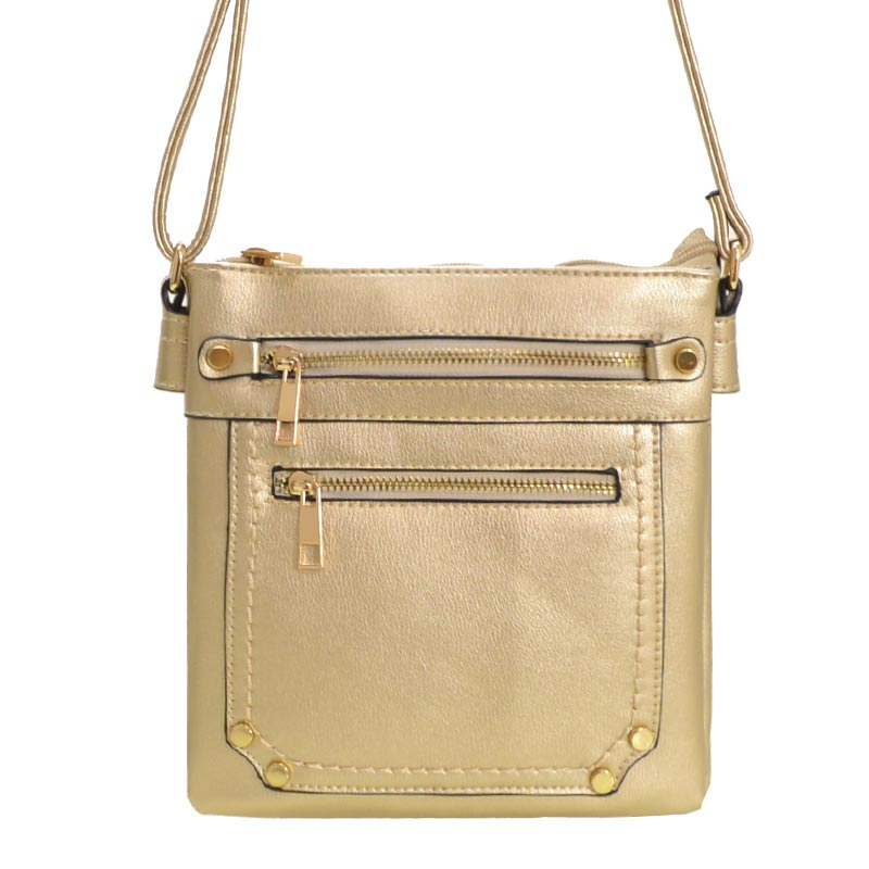 Simple Messenger Bag Gold