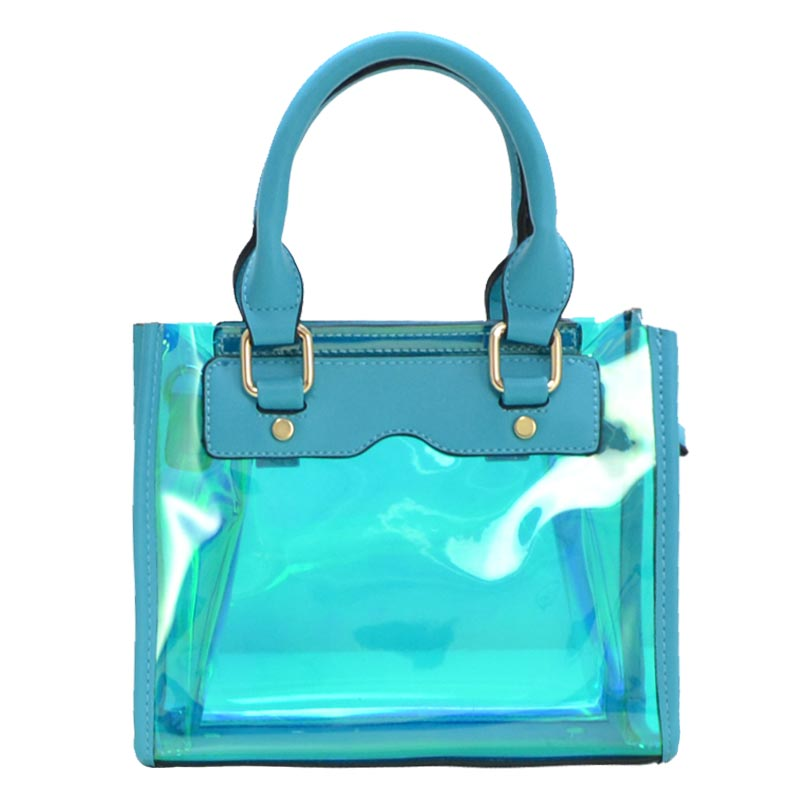 Clear and Color Small Bag Aqua