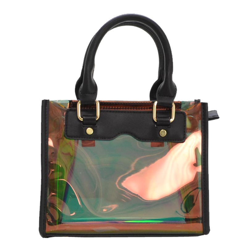 Clear and Color Small Bag Black
