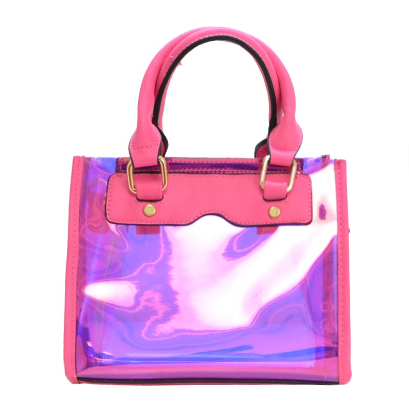 Clear and Color Small Bag Fuchsia
