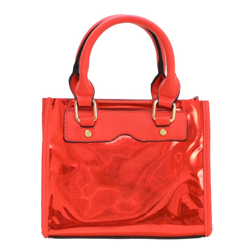 Clear and Color Small Bag Red