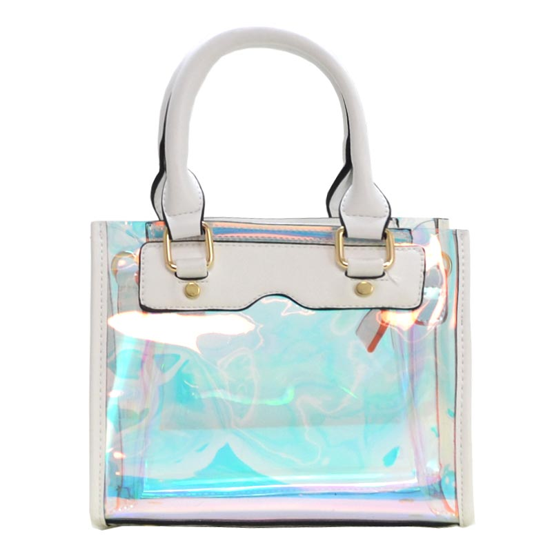 Clear and Color Small Bag White
