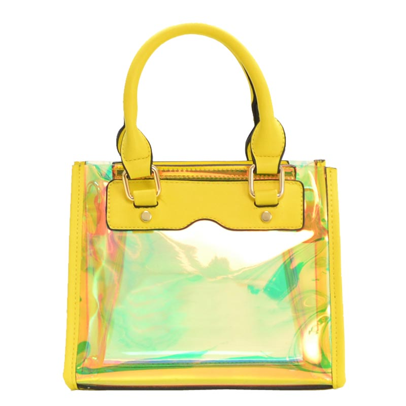 Clear and Color Small Bag Yellow