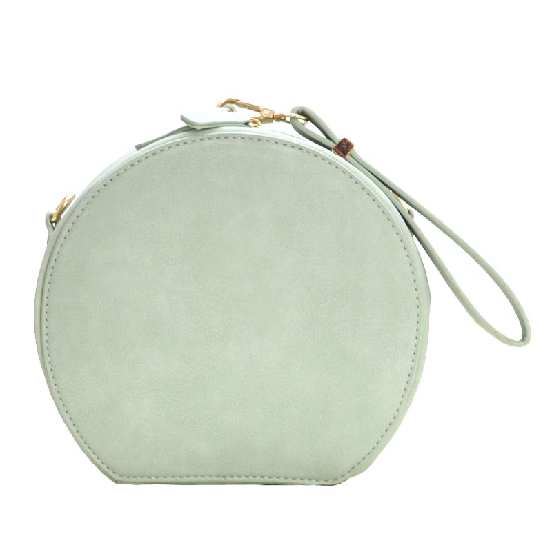 Wrist Handle Round Shoulder Bag Mint