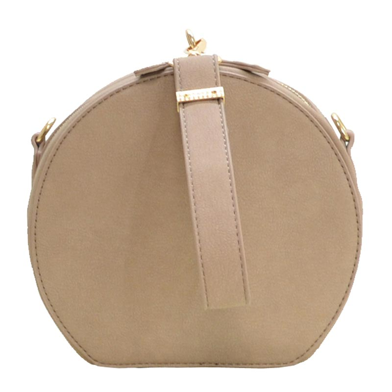 Wrist Handle Round Shoulder Bag Stone