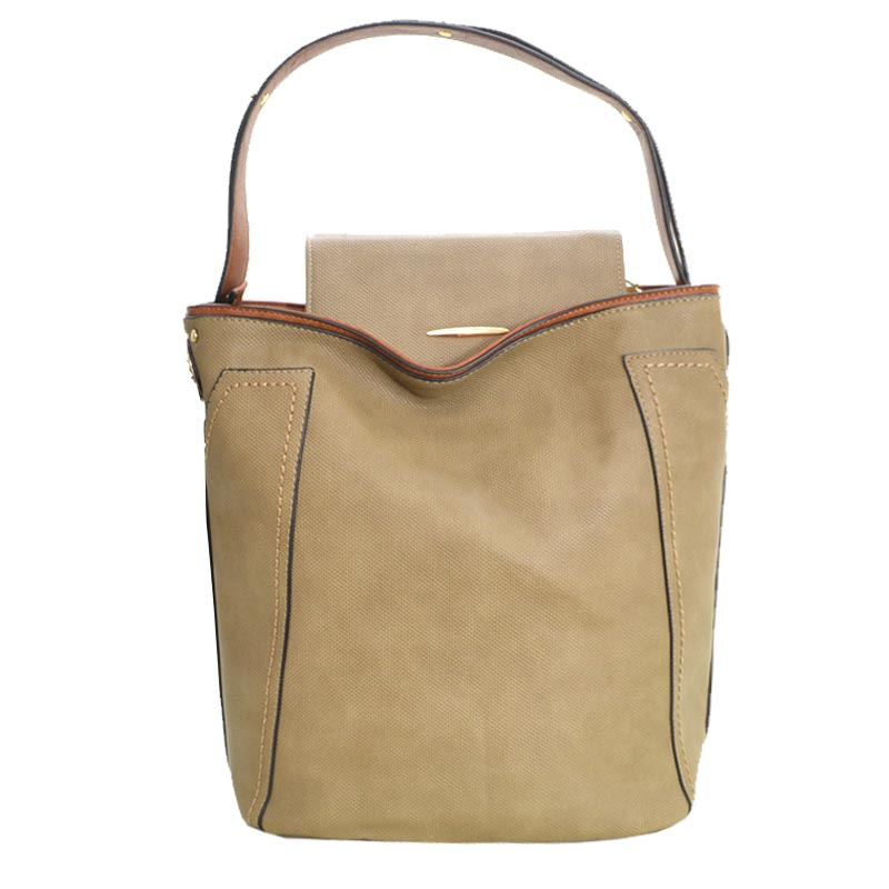 Fashion Tote with Wallet Olive