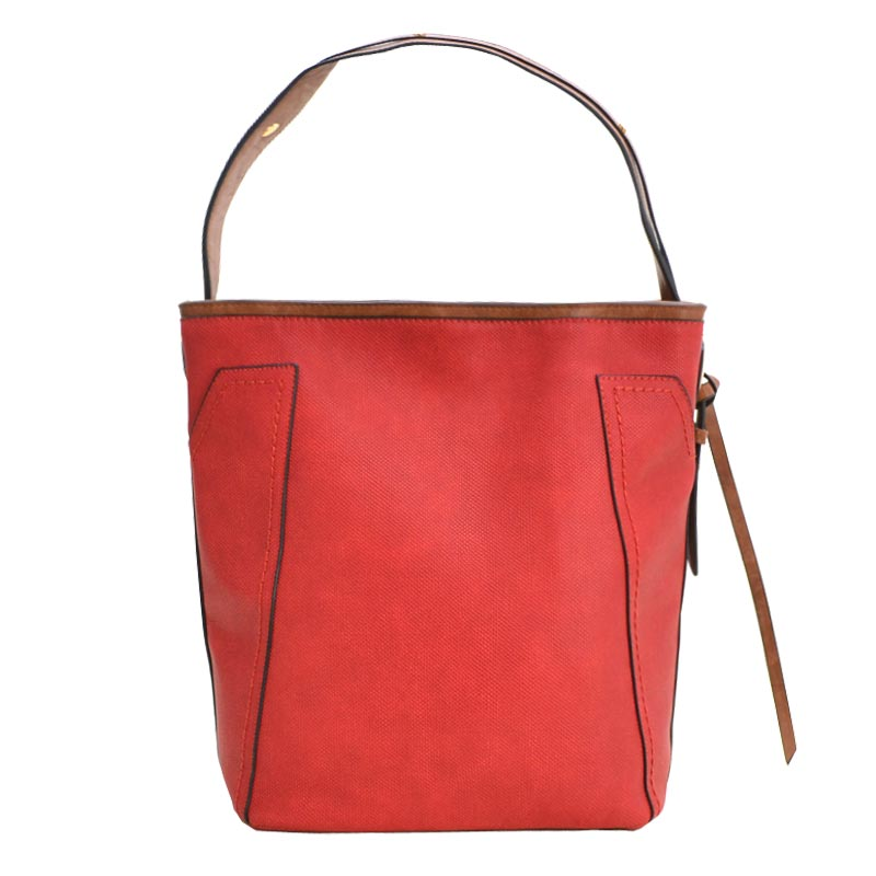 Fashion Tote with Wallet Red