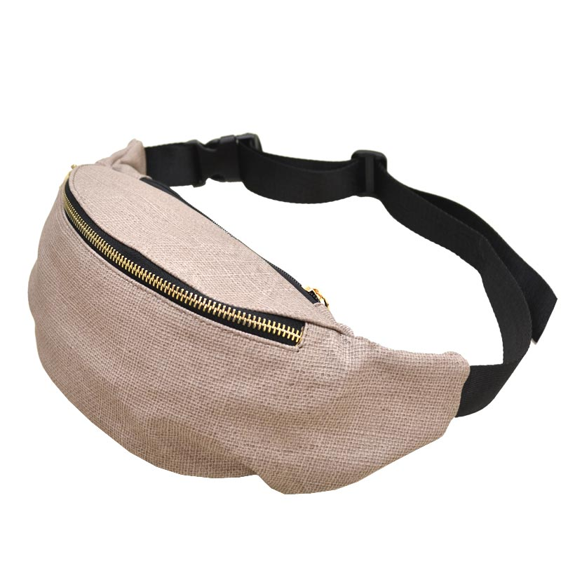 Color Fashion Waist Bag Stone