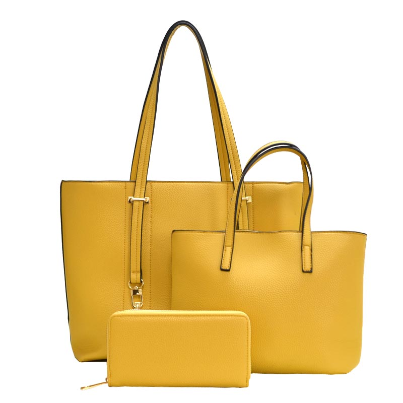 3 in 1 Chick Modern Fashion Satchel Bag Yellow