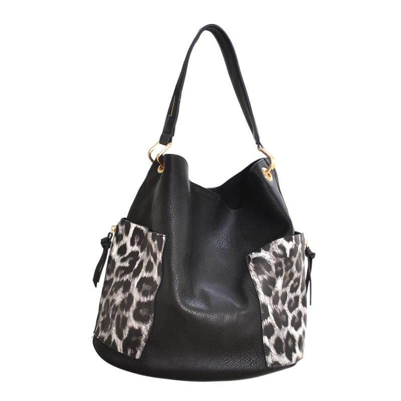 2 in 1 Leo fashion Tote Bag BK
