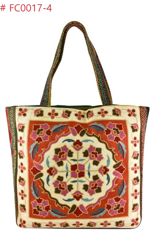 VINTAGE EMBROIDERY TAPESTRY TOTE BAG 4