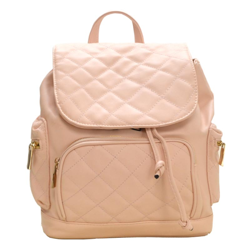 Urban Quilted Fashion Backpack Blush