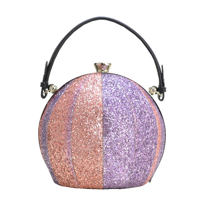 Multi Colored Glitter Ball Shaped Satchel 2