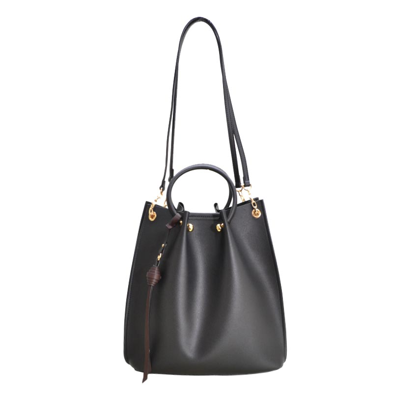 Fashion Convertible 2 in 1 Satchel Black