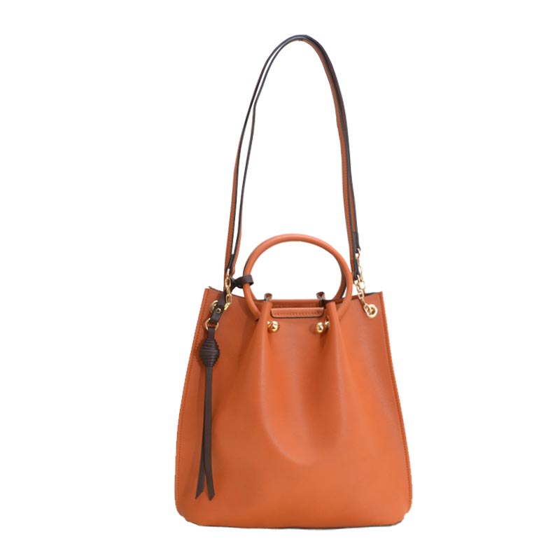 Fashion Convertible 2 in 1 Satchel Cognac