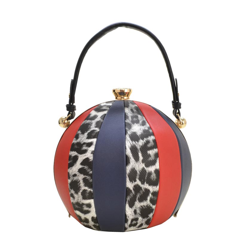 Unique Ball Shape Fashion Bag Black