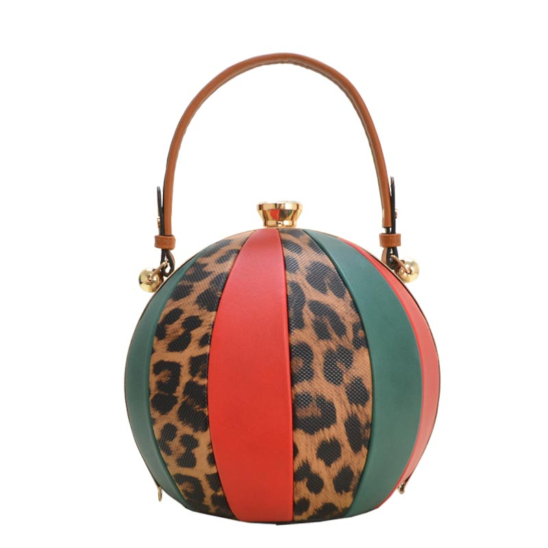 Unique Ball Shape Fashion Bag Brown