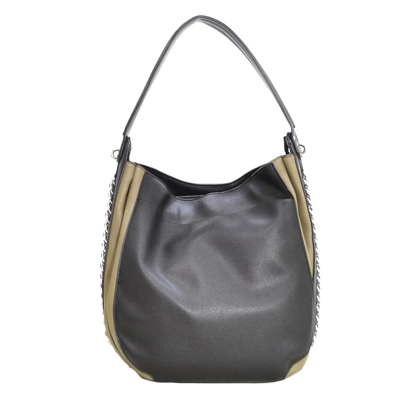 Fashion Side Chain Shoulder Bag Hobo Black