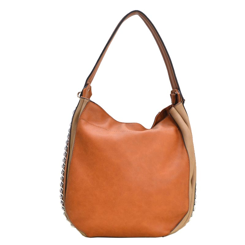 Fashion Side Chain Shoulder Bag Hobo Brown