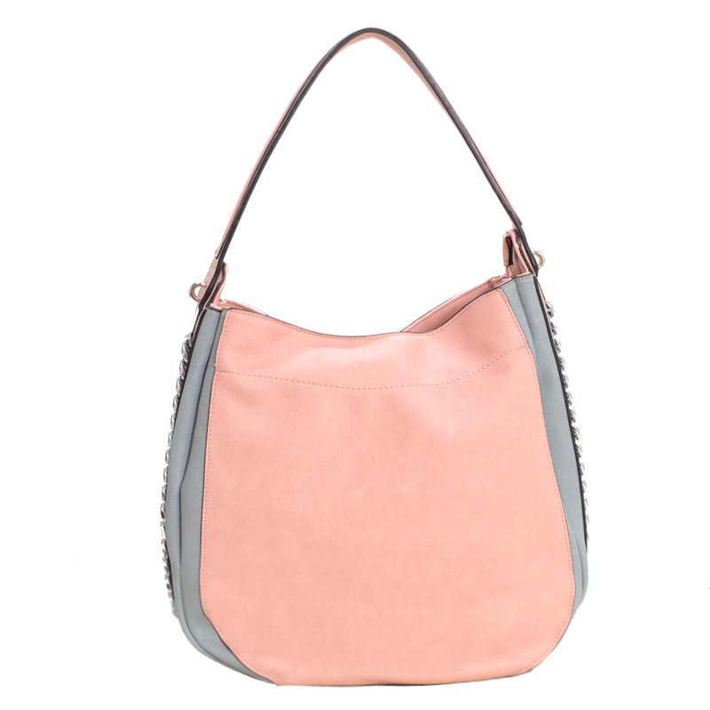 Fashion Side Chain Shoulder Bag Hobo Blush