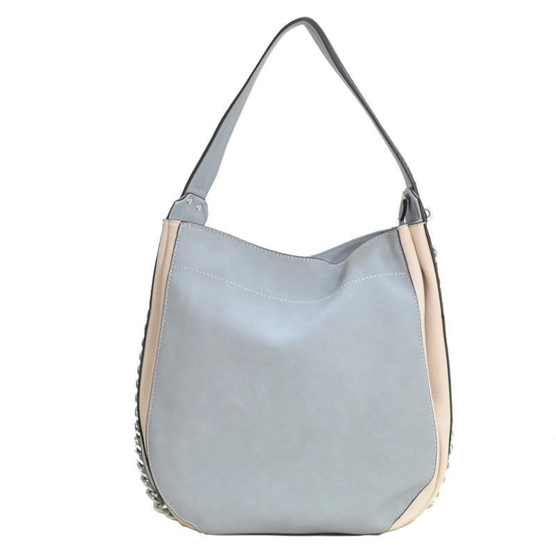 Fashion Side Chain Shoulder Bag Hobo Stone Blue