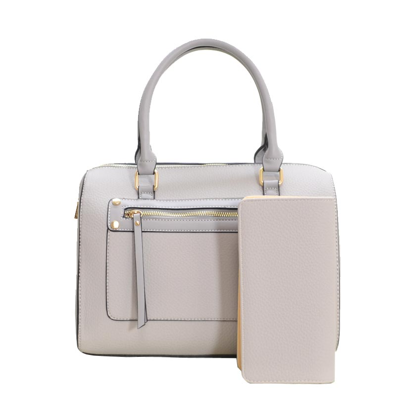 2 in1 cute Modern Satchel With Long Strap Grey
