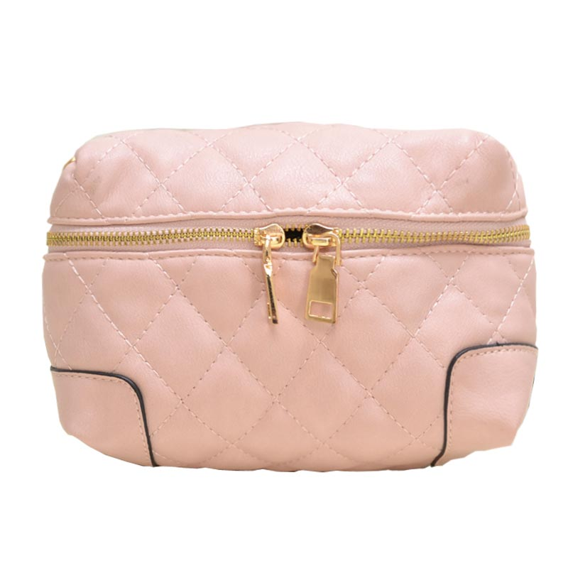 Fanny Quilted Waist or Shoulder Pack Pink