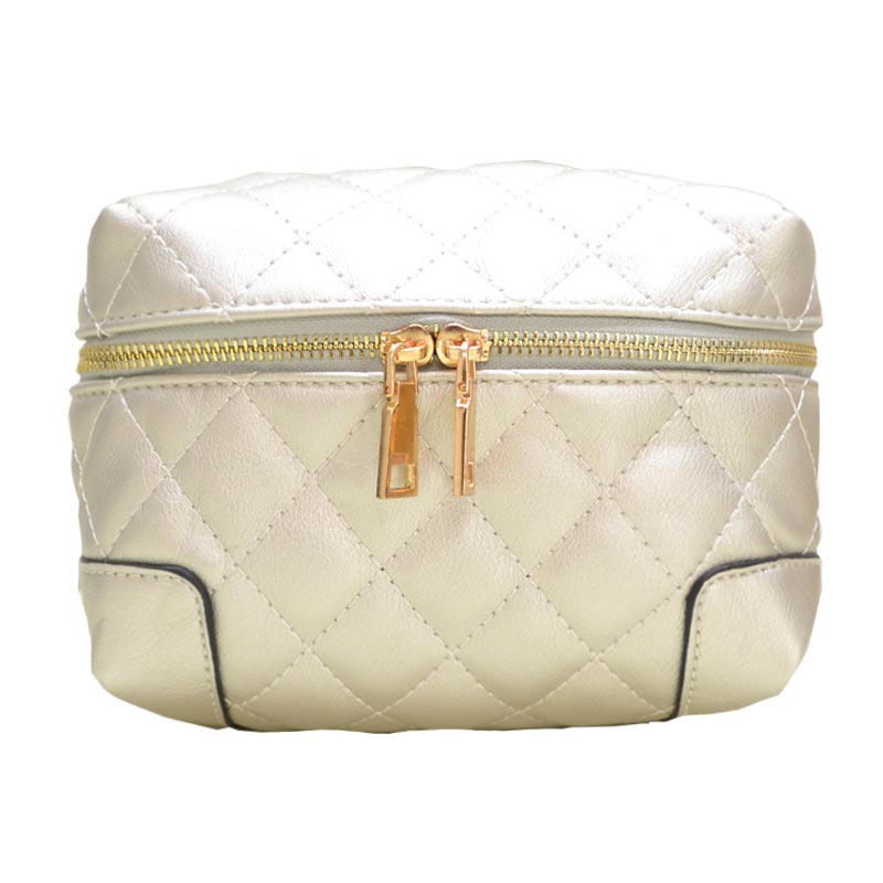 Fanny Quilted Waist or Shoulder Pack Silver