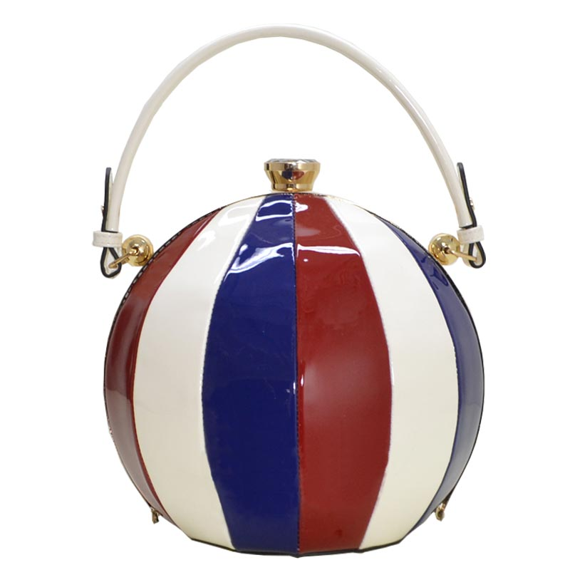 Glossy Trendy Ball Shape Satchel MT3
