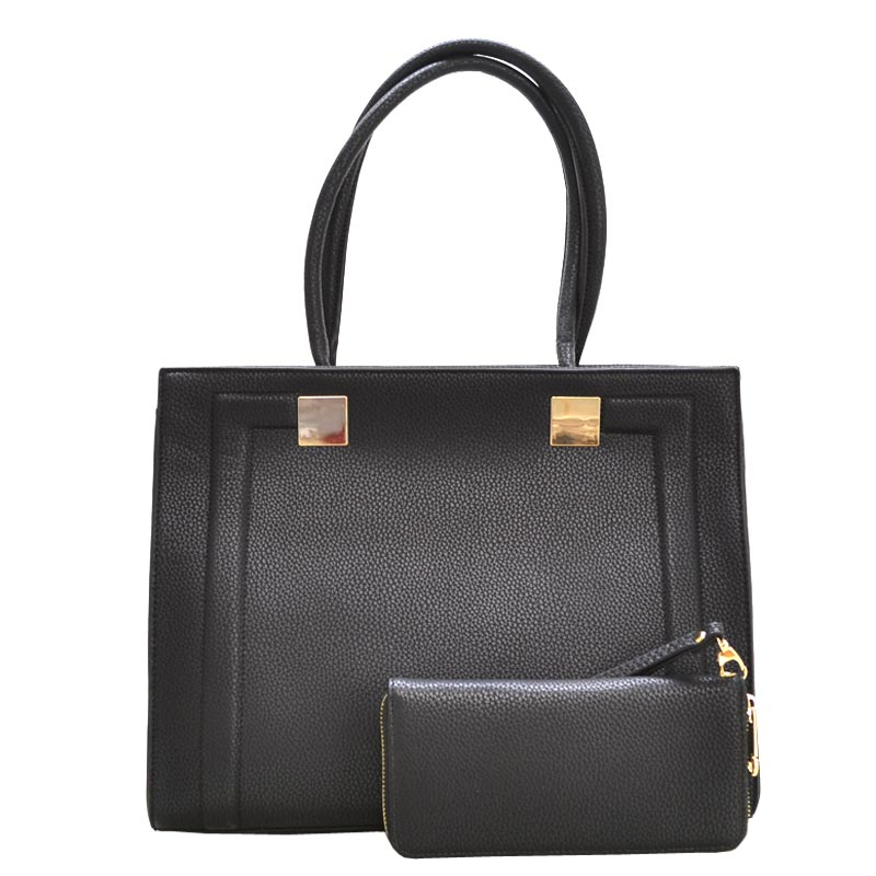 2 in 1 Elegance Hand Bag Black