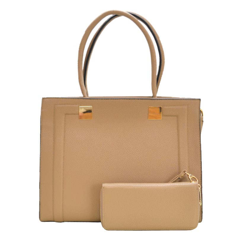 2 in 1 Elegance Hand Bag Taupe