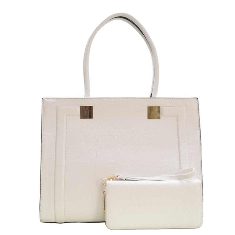 2 in 1 Elegance Hand Bag White