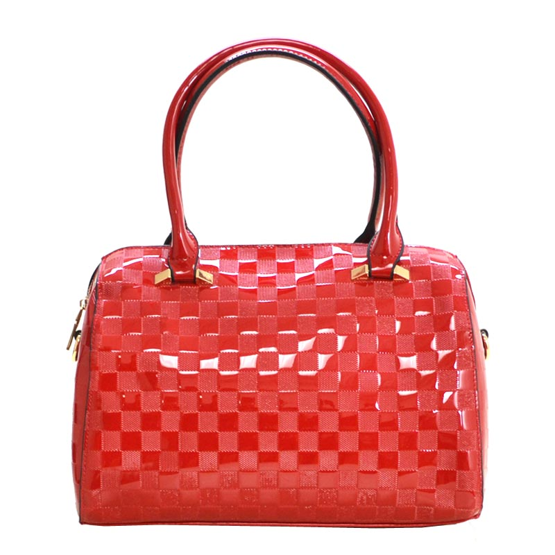Enamel Tote bag Red