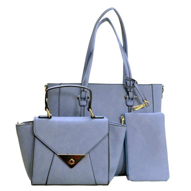 CLASSY 3 IN 1 TOTE Crossbody Value Set Denim