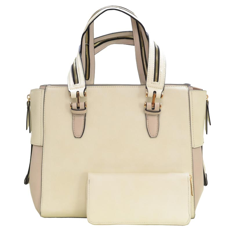 Fashion Bag with Wallet Off White