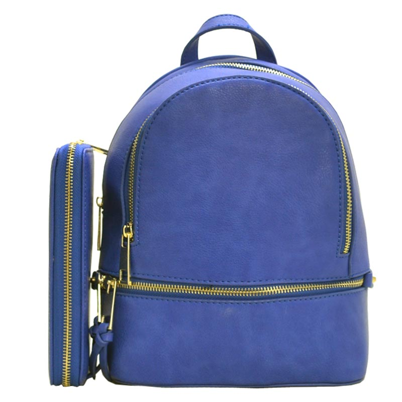 Fashion Small Backpack with Wallet Royal Blue