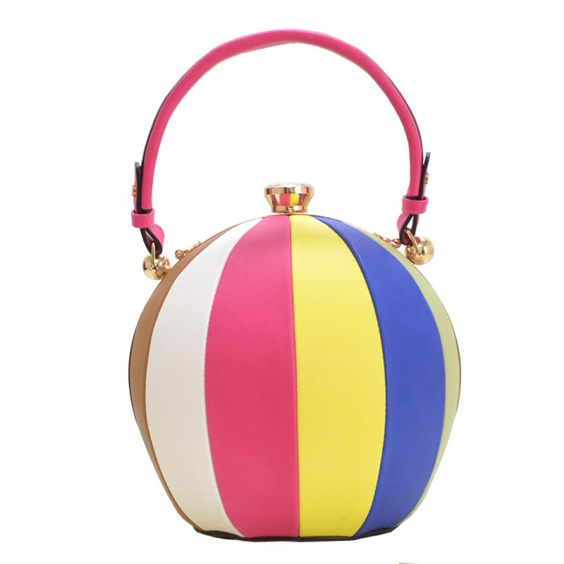 Unique Ball Shape Fashion Bag Fuchsia