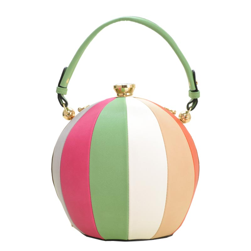 Unique Ball Shape Fashion Bag Green