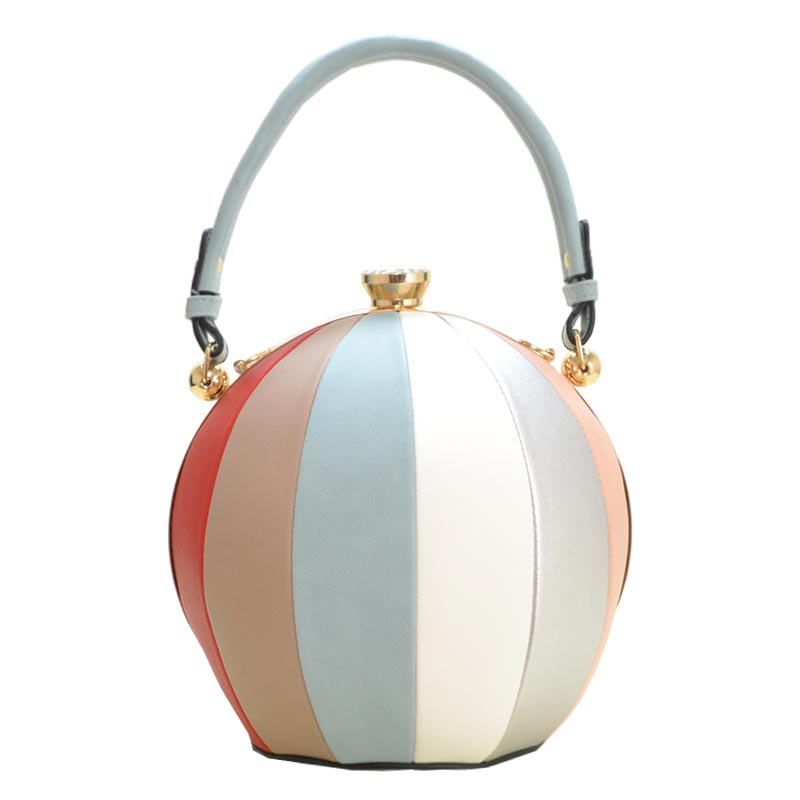Unique Ball Shape Fashion Bag Light Blue